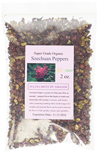 CC-Store strong smell, stimulate taste, organic red sichuan peppers (2 oz.)