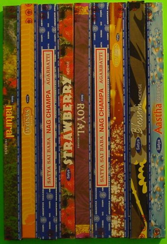 Satya Sai Baba Incense Collection - 25 Boxes, 21 Different - All the Satya Varieties At One Time - incensecentral.us