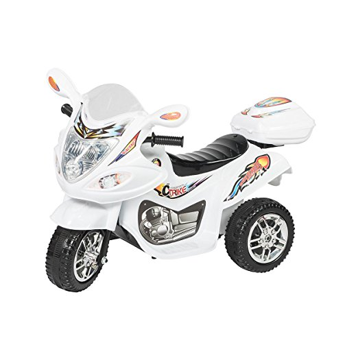 Motorcycle Cop Costumes (3 Wheel Kids Ride On Motorcycle Electric Powered Riding Toy Motor Bicycle Music + FREE E-Book)