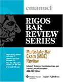 Multistate Bar Exam (MBE) Review, Emanuel, Steven and Rigos, James J., 0735573344