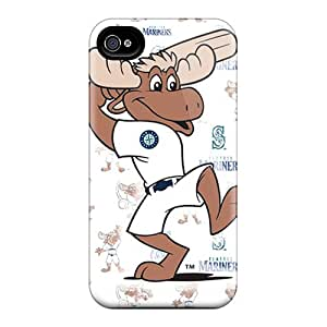 Scratch Resistant Cell-phone Hard Cover For Iphone 6plus (doT12137GEmu) Unique Design Nice Seattle Mariners Pattern