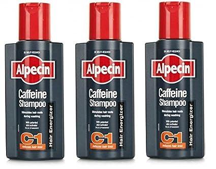 Alpecin cafeína Champú Cabello 250 ml (Pack de 3)