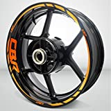 Honda CBR Reflective Orange Motorcycle Rim Wheel Decal Accessory Sticker