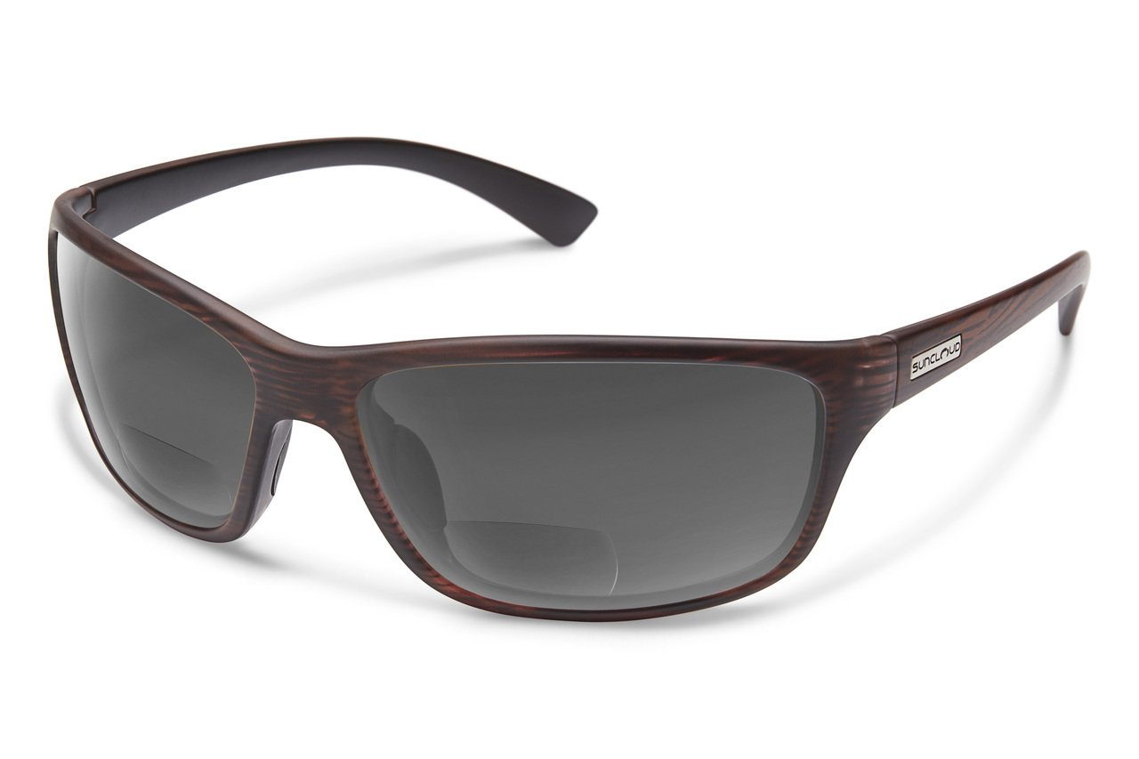 Suncloud Sentry Polarized Bi-Focal Reading Sunglasses in Burnished Brown/Grey +2.25