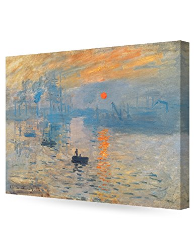 DECORARTS - Impression Sunrise, Claude Monet Art Reproduction. Giclee Canvas Prints Wall Art for Home Decor 30x24 x1.5 (Claude Monet Canvas Art)