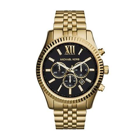 Michael Kors Men's Lexington Gold-Tone Watch MK8286 (Gold Tone Metal Watch)