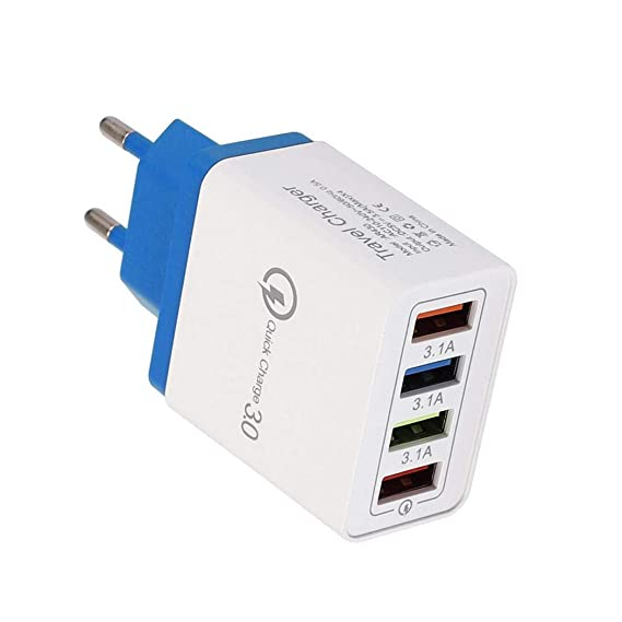 Jintes 4 Puertos USB Colorido Cargador 3A Cabezal de Carga de Viaje para teléfono móvil iPad Bases de Carga