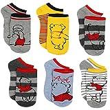 Disney Winnie the Pooh Girls Womens Queen 6 pack Socks (10-13 (Shoe: 6-12), Winnie Grey Queen)