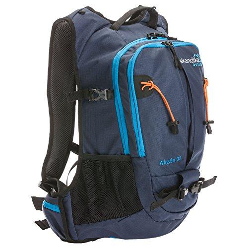 Skandika Whistler mochila de senderismo, color  Azul Oscuro / Azul Claro / Naranja , tamaño talla única, volumen liters 32 Azul Oscuro / Azul Claro / Naranja