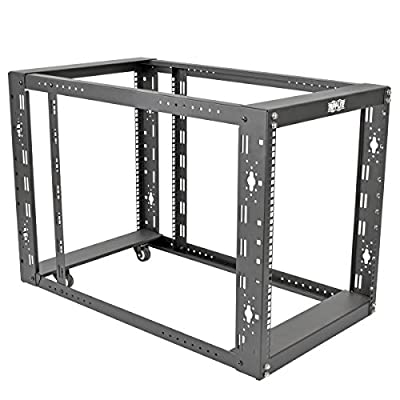 "TRIPP LITE 12U 4-Post Open Frame Rack Server Cabinet Floor Standing 36"" Depth (SR12UBEXPNDKD)"