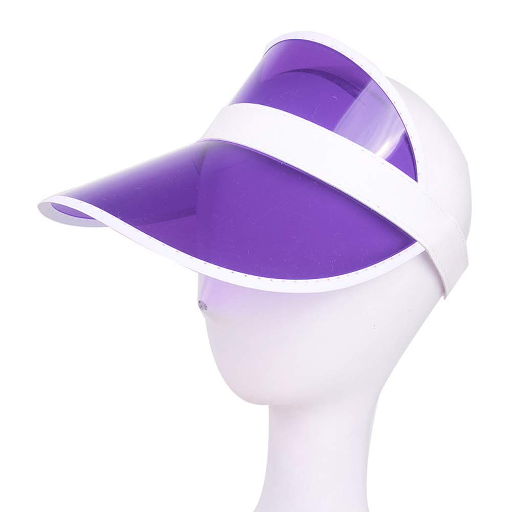 BrawljRORty Women's Sun Hat, Fashion Summer Outdoor Sports Sun Protection Cap Unisex Clear Plastic Visor Hat