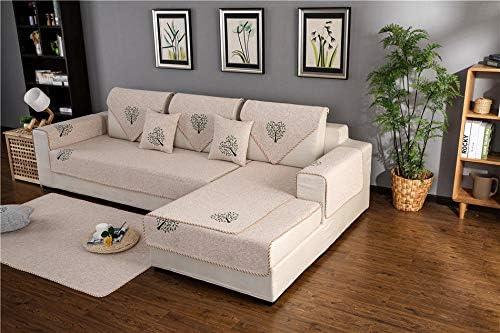QFYD FDEYL 3 Plazas Universal Protector del sofá Se Adapta,Cojín de sofá de algodón Tejido, Funda de cojín de sofá-Beige 1_110 * 160,Fundas Sofa Elasticas 3 Plazas,: Amazon.es: Hogar