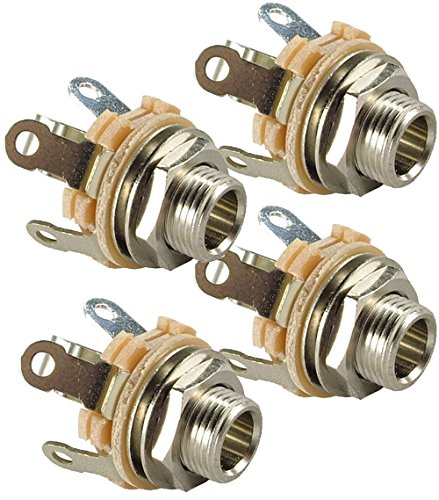 (Switchcraft Type 12A ( Pack of 4 ) Stereo 2-Conductor Input Jack, 1/4