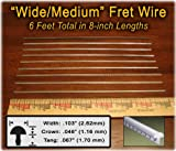 Fret Wire for Electric and Bass Guitars - Wide/Medium Size - Six Feet