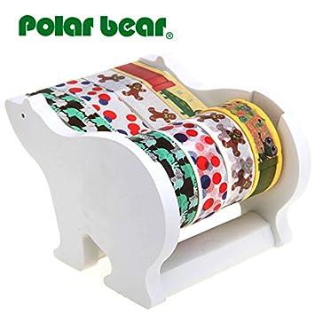 Polar Bear Multi rollos dispensador de Cinta adhesiva Washi, incluyendo 4 rollos de cinta adhesiva (15 x 9,14 m cada): Amazon.es: Hogar