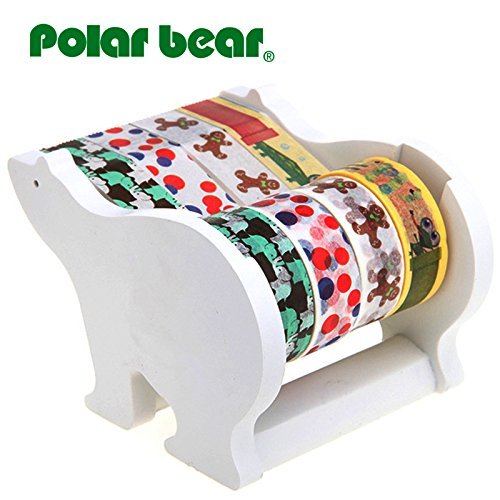 Polar Bear Multi Roll Tape Dispenser, including 4 rolls of Washi Tape(0.59 Inch X 10 Yards each) 1 inch Core (Multi Dispenser compare prices)