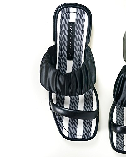Zara Donna Sandalo basso a righe 5601/201 (35 EU | 5 US | 2 UK)