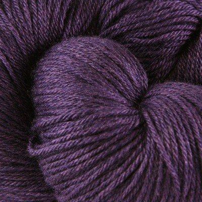 (Valley Yarns Charlemont Fingering Weight Sock Yarn, Superwash Merino Wool/Silk/Polyamide - Purple Passion)