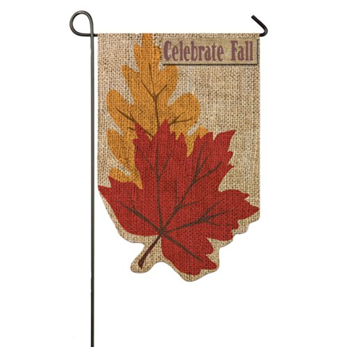 Evergreen Flag & Garden Welcome Fall Leaves Garden Flag
