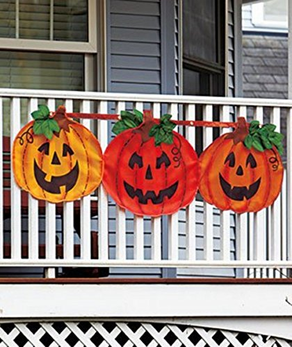 1 X Halloween Pumpkin Bunting (Border Fence Creepy)