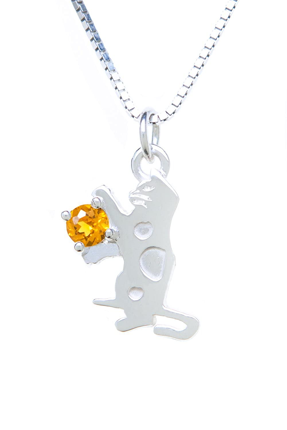 Sterling Silver Pendant Charm Cat