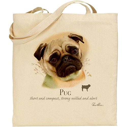 Cotton Howard Robinson Bag Natural Robinson Pug Dog Cotton Natural Howard Pug Dog xwIBOqwX