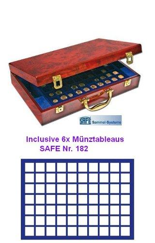 Safe 259 Wurzelholz Münzkoffer Premium 2 Euro Q In Klavierlack