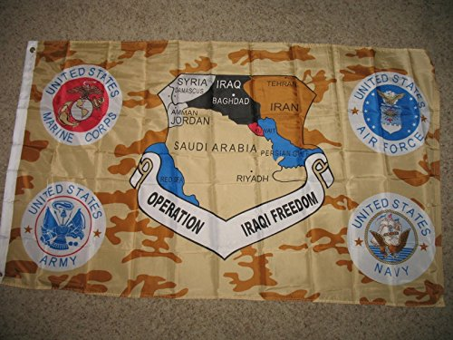 Operation Iraqi Freedom Service Banner Flag 3X5 Ft by Decorative Flag
