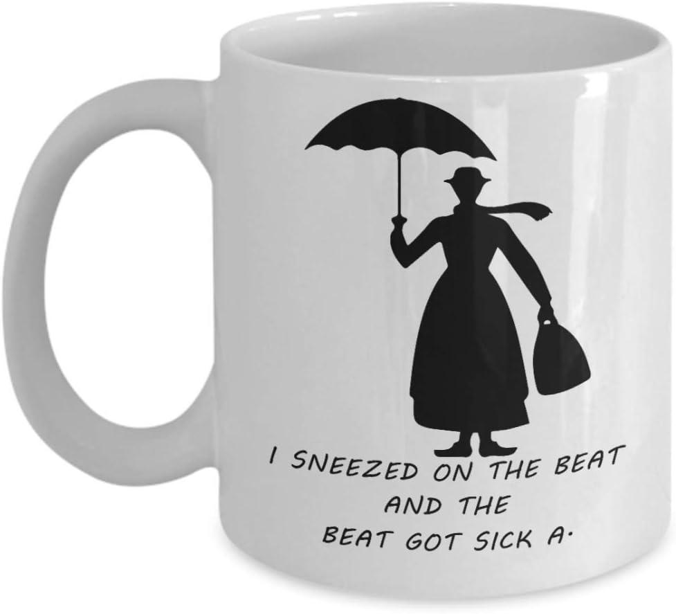Estornudé sobre el ritmo y el ritmo se enfermó: una taza de café Mary Poppin, divertida, taza, té, regalo para Navidad, día del padre, Navidad, papá, aniversario, día de la madre, papá, corazón