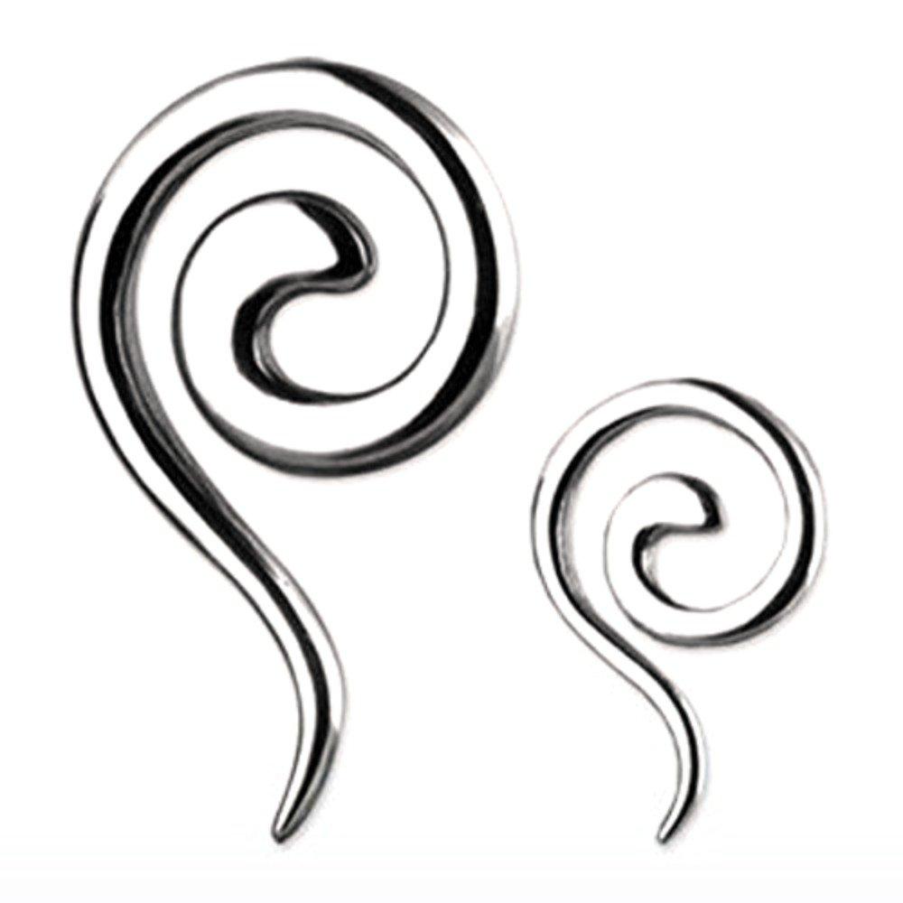 Body Accentz™ Earrings Rings 316L Surgical Steel Swirl Twist Tapers - Sold as a pair 6G Body Accentz Plugs HO705X$6G-TSPR.jpg