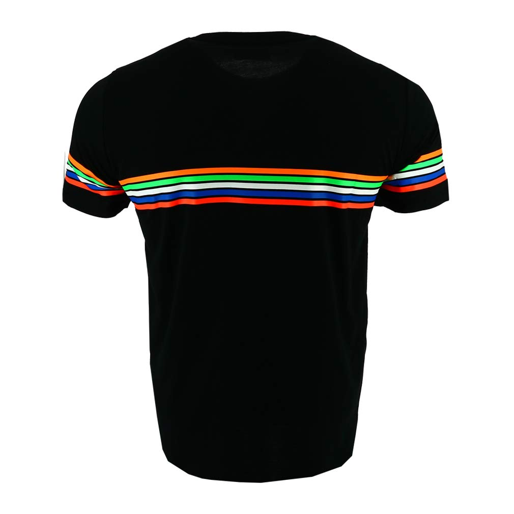 665dab1b Amazon.com : Valentino Rossi VR46 Moto GP The Doctor Stripes Black T-Shirt  Official New : Sports & Outdoors