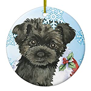 Lplpol Happy Holidays Affenpinscher Ceramic Ornament for Gift Commemoration Day 44