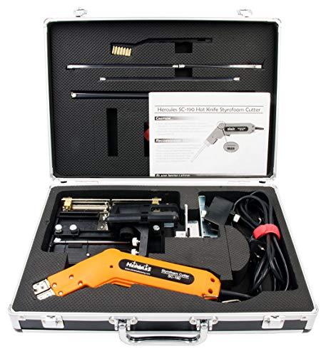 (Hot Knife Foam Heat Cutter Kit, Handheld Heat Cutter, Styrofoam Cutter, Polyurethane, Polyethylene, Polyester & Polyether Foam Hot Cutter, Sponge Rubber Cutter - Hercules SC-190 Hotknife Master Kit)