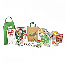 Melissa & Doug Fresh Mart Grocery Store Companion Collection, Play Sets & Kitchens, Multiple Role Play Items, Helps Develop Social Skills, 10″ H x 3.5″ W x 13.75″ L