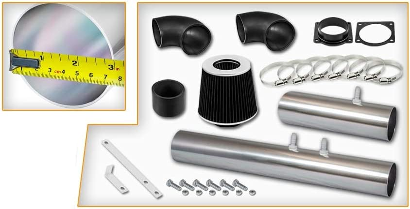 High Performance Parts Short Ram Air Intake Kit /& Black Filter Combo Compatible for 2002 Ford Thunderbird 2000-2002 Lincoln LS 3.9L V8 Engine