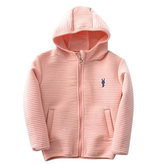 FEITONG Infant Baby Boys Girls Christmas Xmas Fleece Hooded Sweater Tops Coat Pullover