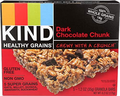 Kind, Dark Chocolate Chunk Granloa Bar, 1.2 Ounce, 5 Count