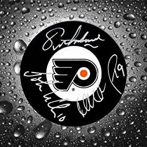 Eric Lindros, John LeClair & Mikael Renberg Legion of Doom Philadelphia Flyers Autographed Puck