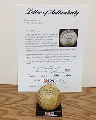Jackie Robinson 1950's Signed Autograph Ball Baseball Authenticated by PSA DNA with Jimmie Foxx Mickey Mantle - Psa Dna Autographs
