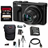 Panasonic Lumix DMC-ZS60 Digital Camera (Black) + Sony 32GB Memory Card + Wasabi DMW-BLG10 Li-ion Battery + Focus HDMI to Micro HDMI Cable (6 FT) + Focus Camera Accessory Bundle For Sale