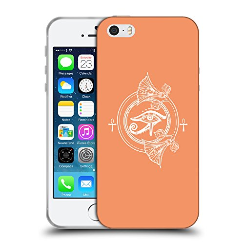 GoGoMobile Coque de Protection TPU Silicone Case pour // Q09830607 Religion 23 Mandarine // Apple iPhone 5 5S 5G SE