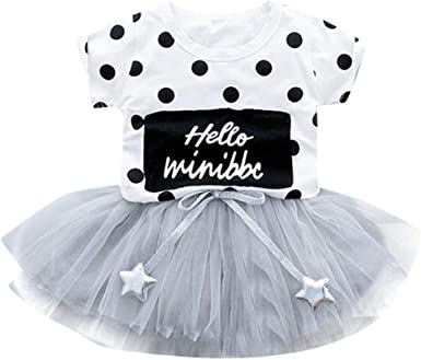 Vestidos de Fiesta de bebés niña Falda de Tul de Manga Corta de ...