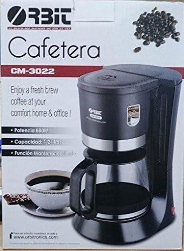 JPWOnline - Cafetera electrica 10-12 tazas Orbit CM-3022: Amazon.es: Hogar