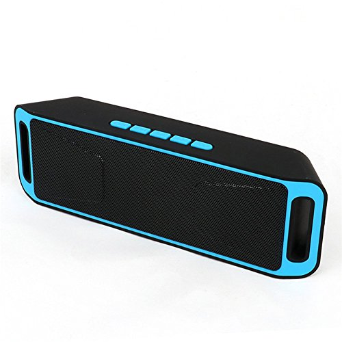 Sicneka Bluetooth 4.0 Portable Wireless Speaker TF USB FM Radio Built-in Mic Dual Speaker Bass Sound Subwoofer - Blue by Sicneka