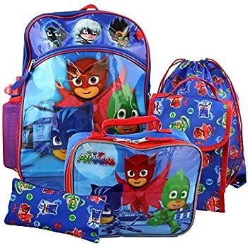 PJ Masks Boys 6 piece Backpack School Set (One Size, Blue)
