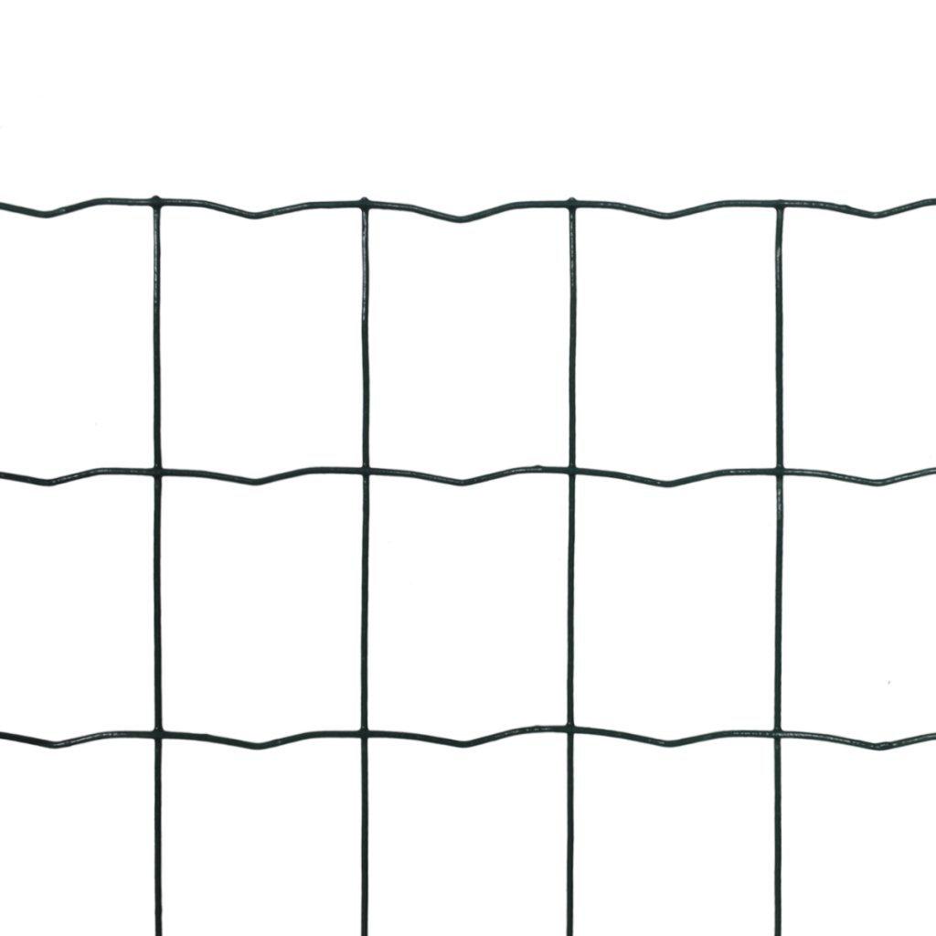 Festnight Grillage de Clôture pour Jardin 10 x 1, 2 m avec Les Support pour Jambe de Force à enfoncer