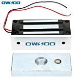 OWSOO Electric Magnetic Lock 60KG 132lbs Holding Force For Door Access Control System Electromagnet Fail-Safe NC Mode