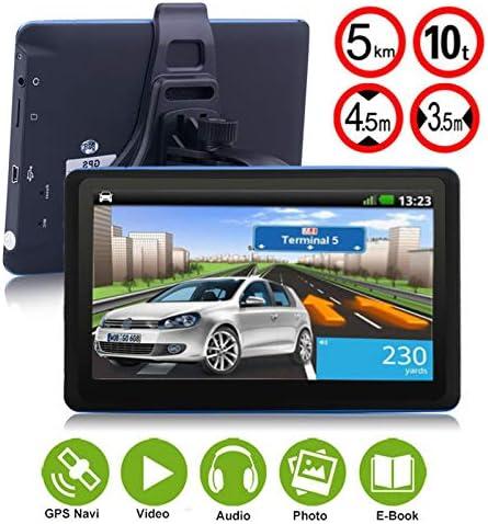 Hoodie Navigatore GPS con Touchscreen 9 Pollici Aggiornamento Gratuito delle mappe Vita Navigazione GPS per Camion con promemoria vocale funzioni multimediali supportano Musica Film o Giochi ECC