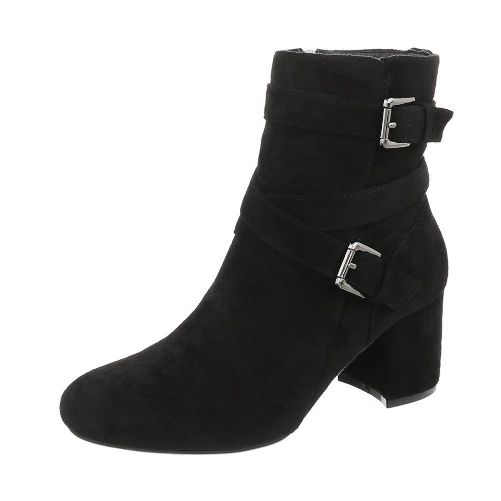 Chaussures femme Bottes et bottines B012OBQCEK Bottines Kitten-Heel Cl62p Bottines classiques Ital-Design Noir Cl62p 4c07341 - automatisms.space