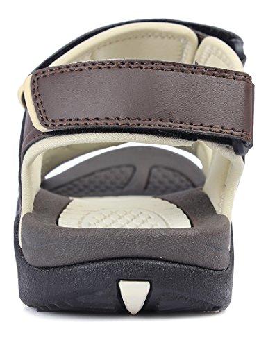 Kunsto Men's Sport Outdoor Sandal US Size 10 Brown by Kunsto (Image #5)